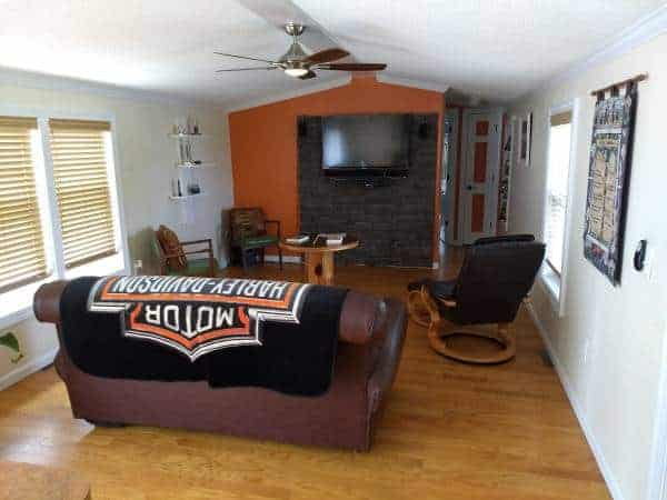 jacksonville Florida mobile home for sale with Harley Davidson-living-room