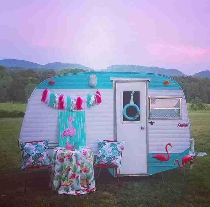 Jane the camper exterior after