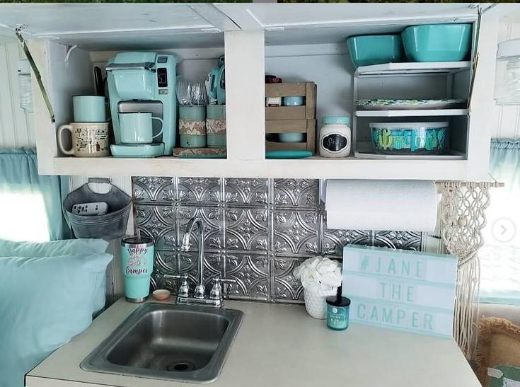Jane the camper kitchen storage
