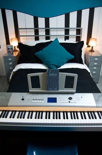 decorating a musical theme kids bedroom ideas