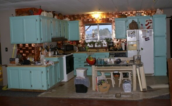 Kitchen before the renovation of the manufactured kitchen house 1