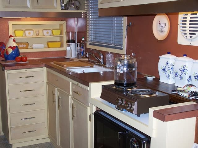 Kitchen before remodel of 1959 spartan imperial mansion