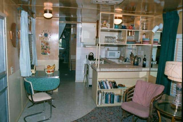 Kitchen In Vintage Spartan Mobile Home