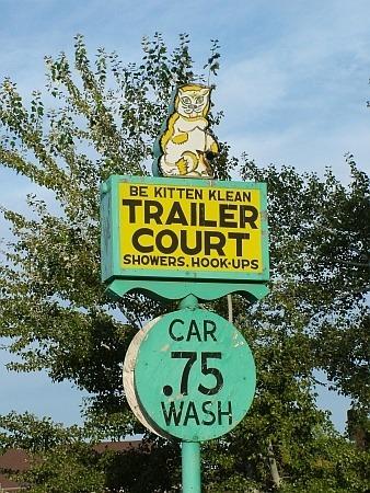 Kitten mobile home park sign