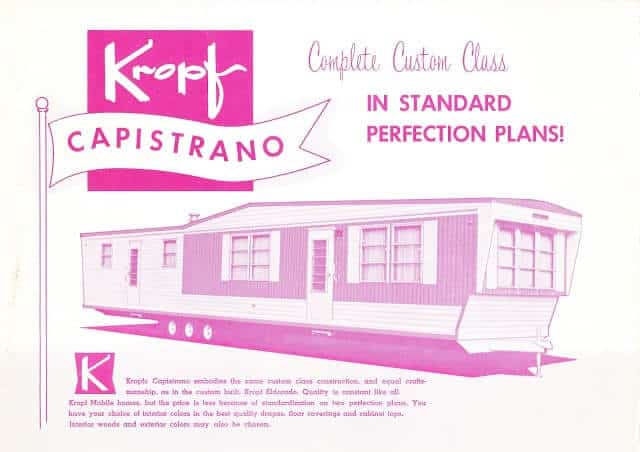 Kropf Mobile Home Ad