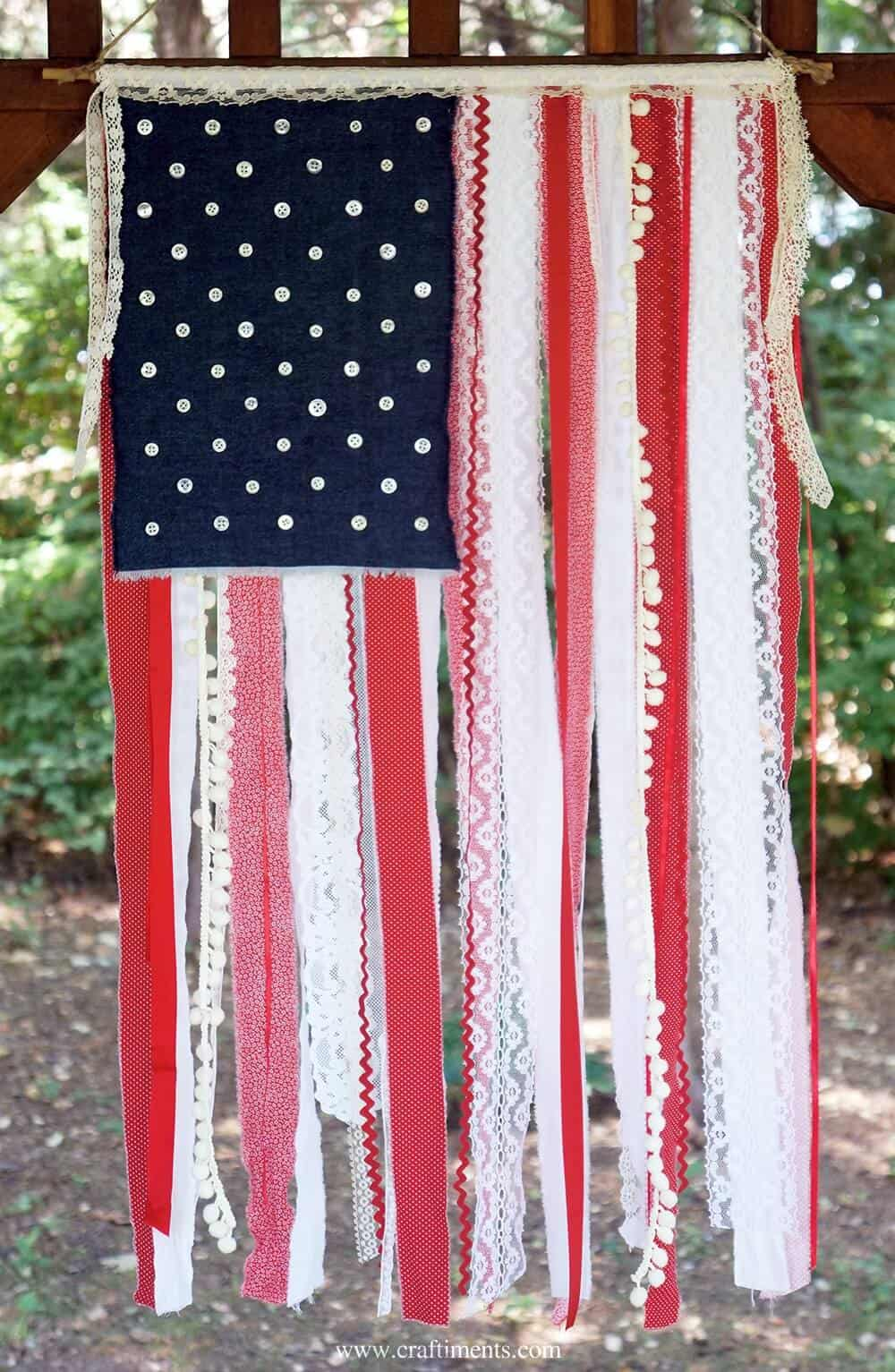 Lace American Flag Craftiments.com