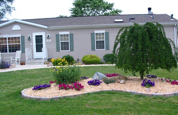 Landscaping Around A Double Wide Mobile Home 1