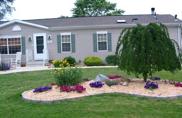 Landscaping Around A Double Wide Mobile Home 2