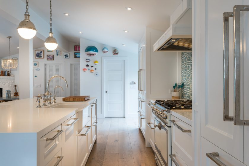 Light and bright double wide kitchen