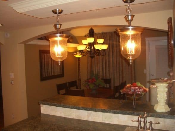 light fixtures for kitchen and dingin room