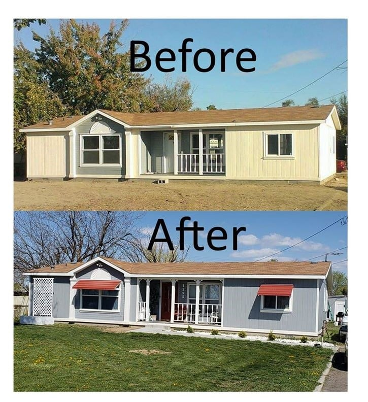 Linda Exterior Before And After