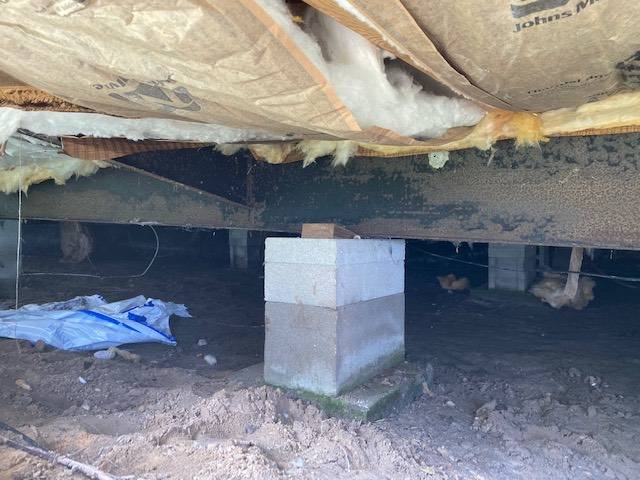 Making a mobile home foundation pier stronger