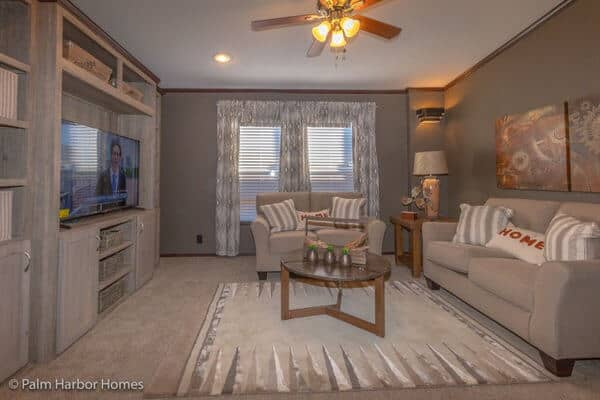 manufactured home design-family room