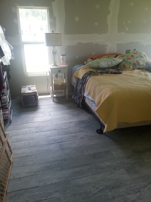 Master Bedroom During The Remodel