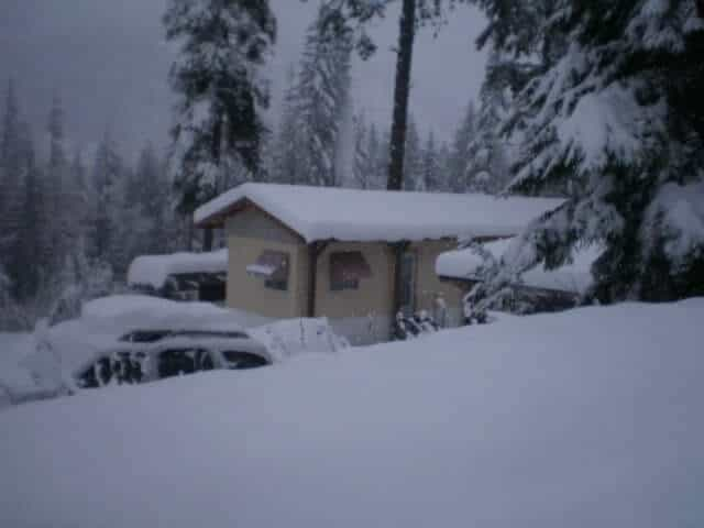 Mobile Home Covered In Snow 1