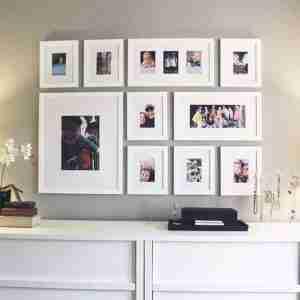 mobile home decor ideas-wall photos