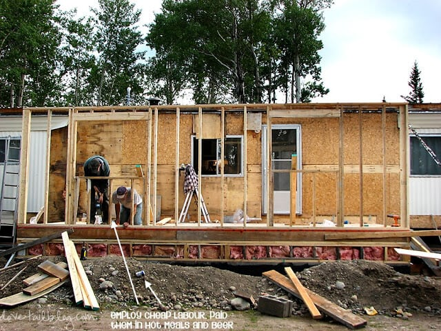 Mobile Home During Addition 1