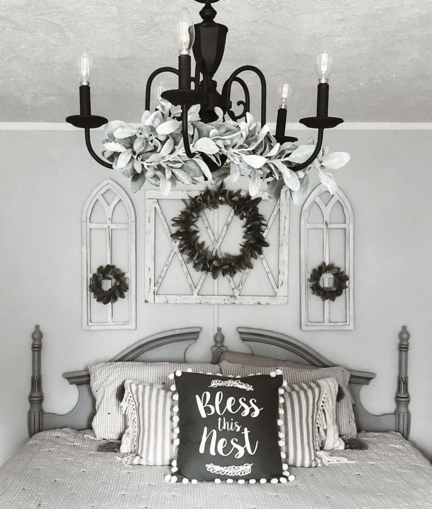 Mobile home farmhouse bedroom lighting