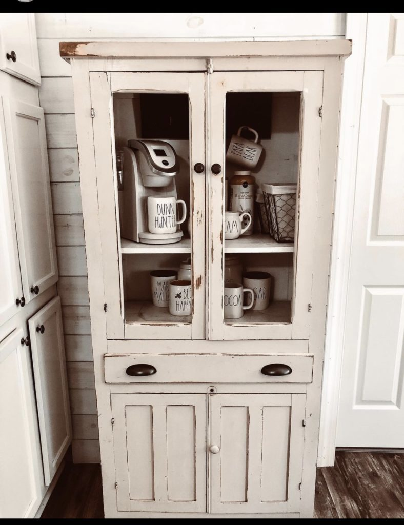 Mobile home farmhouse coffee cabinet