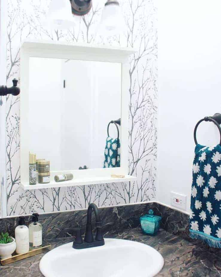 Mobile Home Flippers Create Beautiful Farmhouse Mobile Home Bathroom Vanity After 1