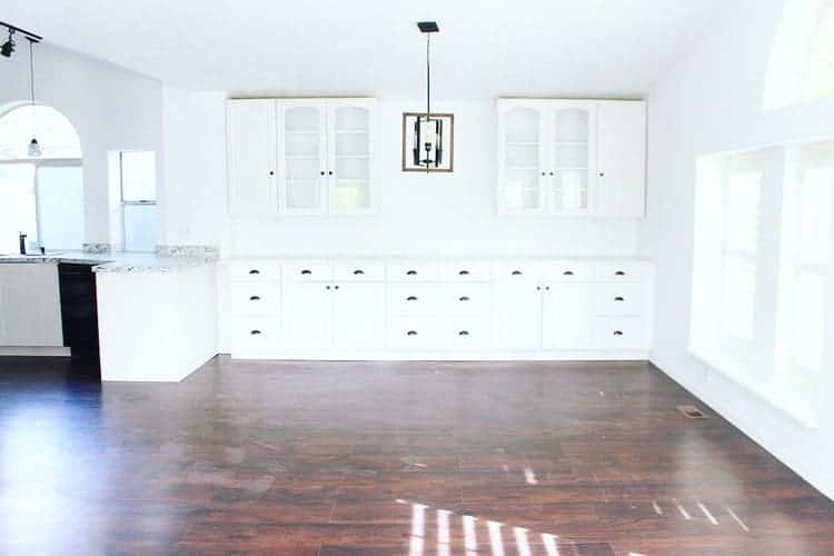 Mobile home flippers create beautiful farmhouse mobile home dining room after remodel in 1988 ranchero double wide