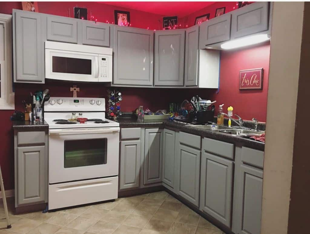 mobile home kitchen cabinets in grey