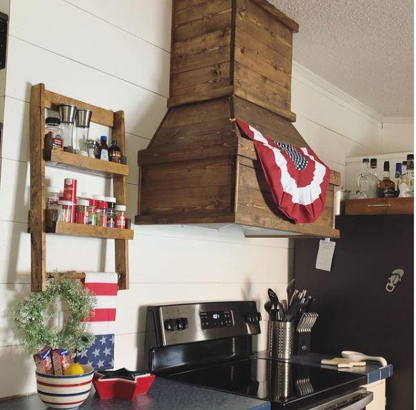 Mobile home lake cottage kitchen