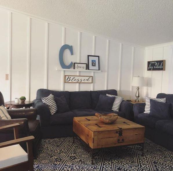 Mobile home lake cottage living room
