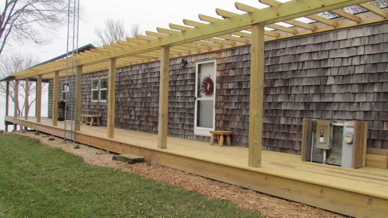 Mobile Home Lake House With Cedar Siding And Huge Covered Porch The Whim00008