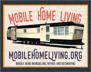 Mobile Home Living Banner W Blue Frame 350