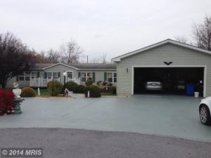 mobile home living in WV-double wide with garage