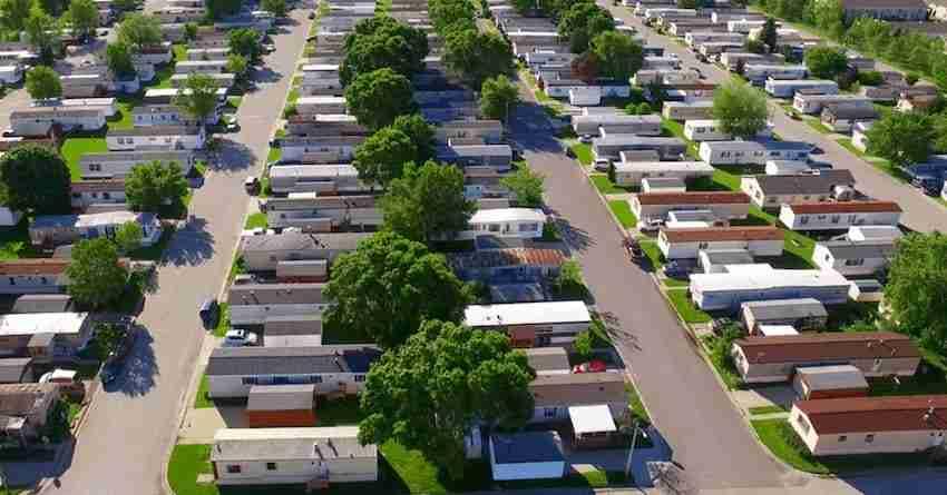 Mobile Home Park Aerial