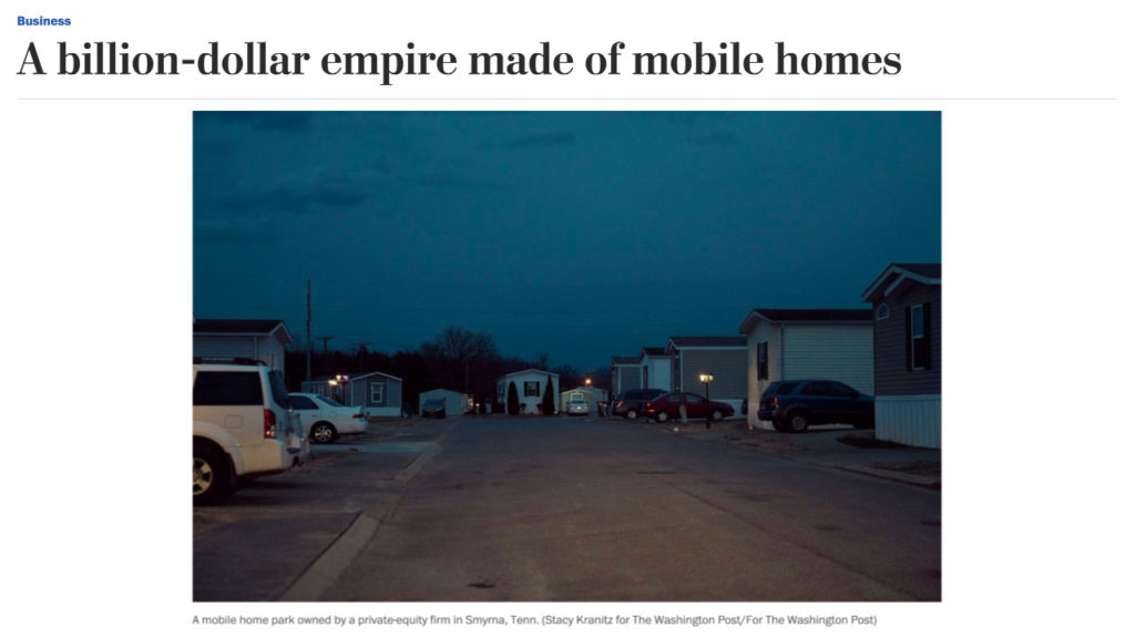 Mobile home park injustices