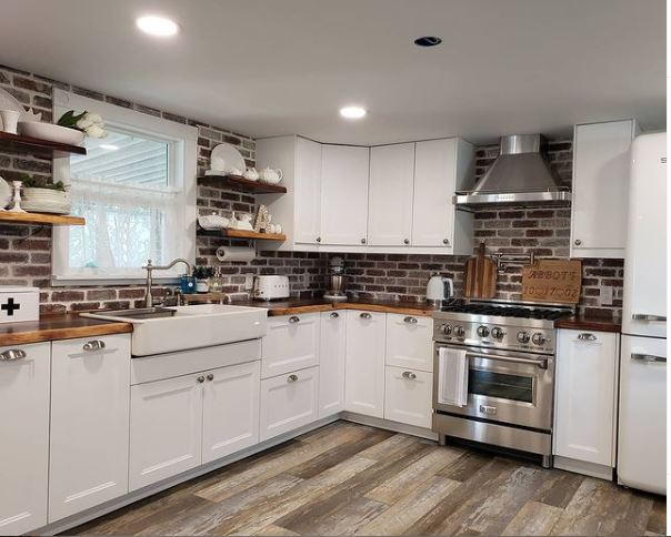 Mobile home remodel abbotts kitchen