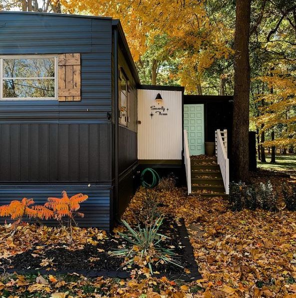 Mobile home remodel single wide couple