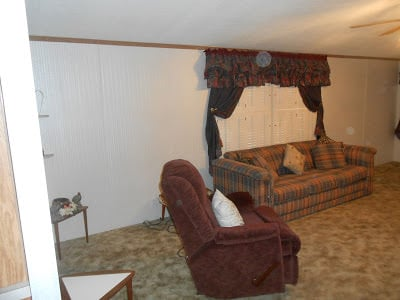Gorgeous double wide makeover living room before