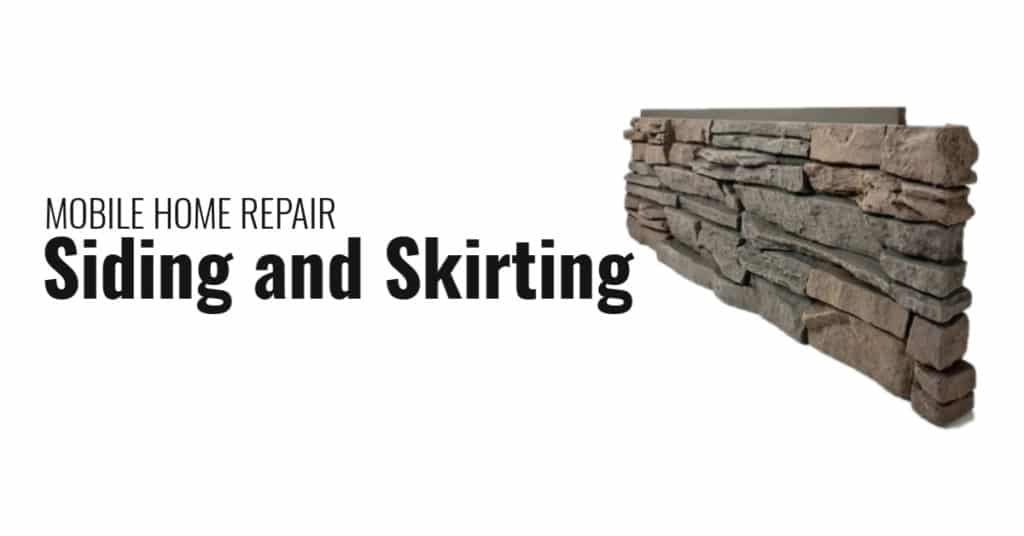 Mobile home repair skirting and siding