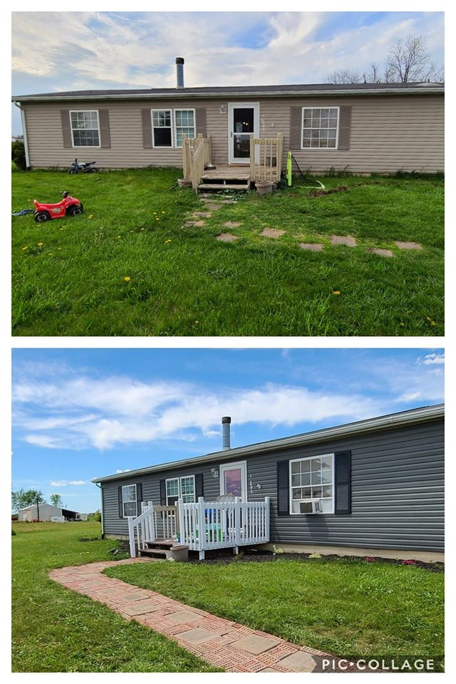 Mobile home transformations nikki exterior before and after