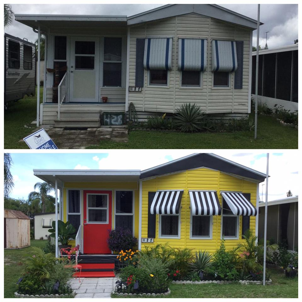 Mobile home transformations wendy w exterior before and after