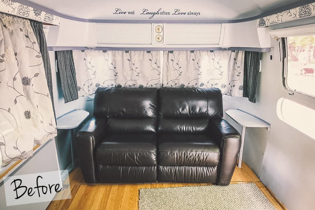 Modern Camper Remodels Airstream Interior Before
