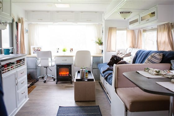 Modern Camper Remodels Light And Bright Interior After