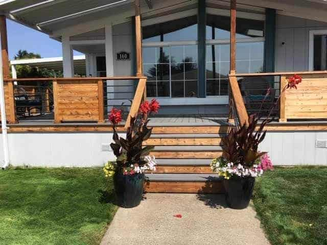 modern porch design on double wide manufactured home - jim and connie fickel 2