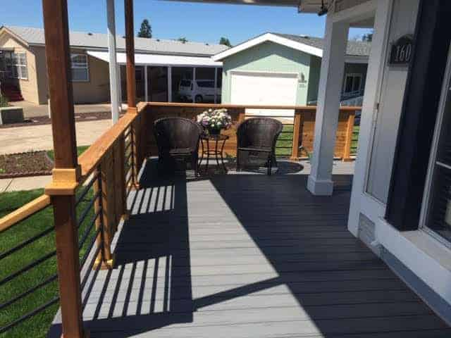 Modern Porch Design On Double Wide Manufactured Home Jim And Connie Fickel 3
