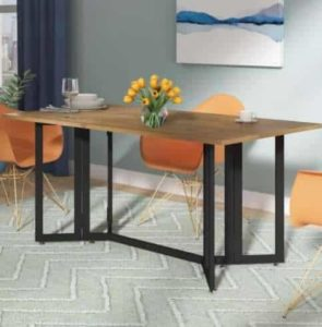 Smart multi-function furniture that's perfect for a small mobile home-dining room table