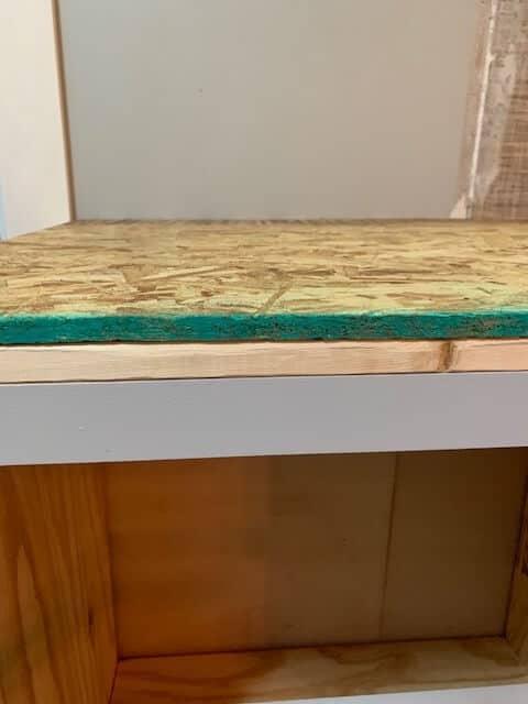 Nailed down osb board