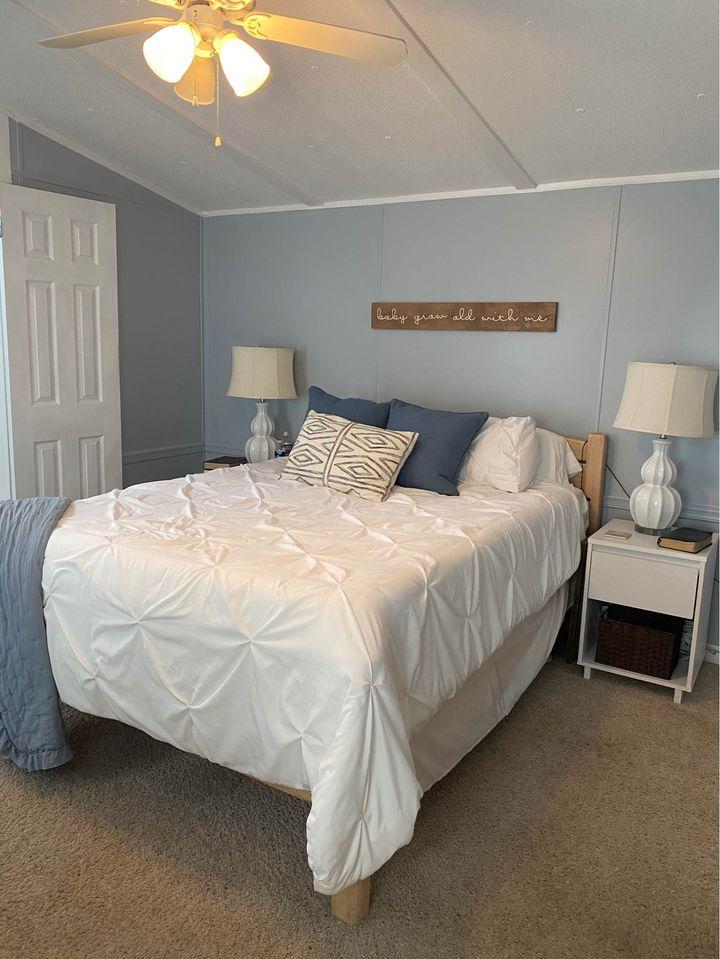 Newer mobile home bedroom