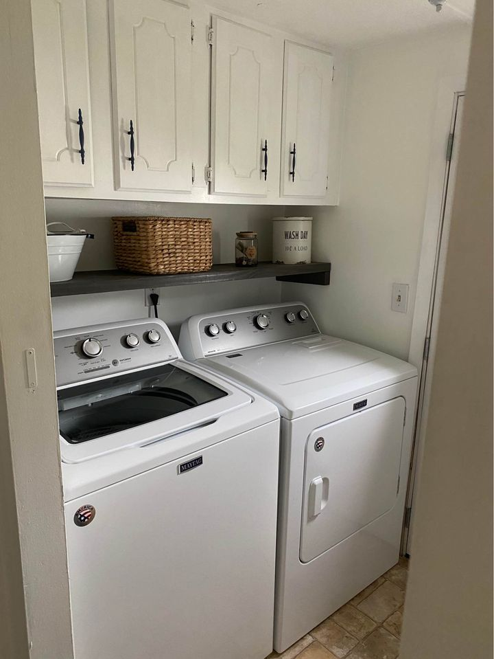 Newer mobile home laundry room