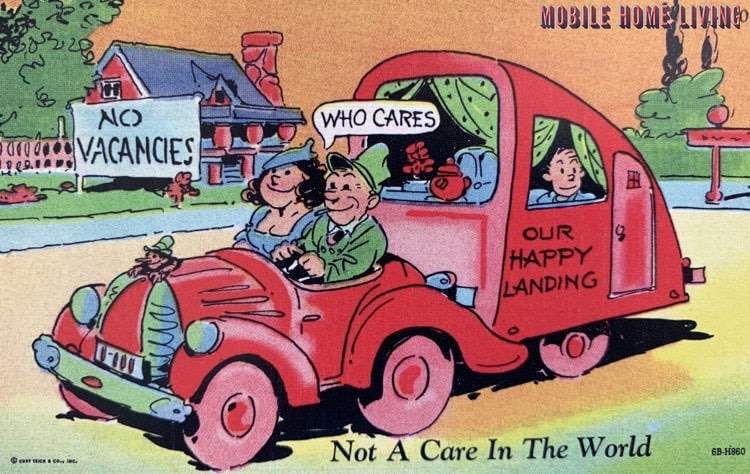 Not A Care In The World Postcard 1