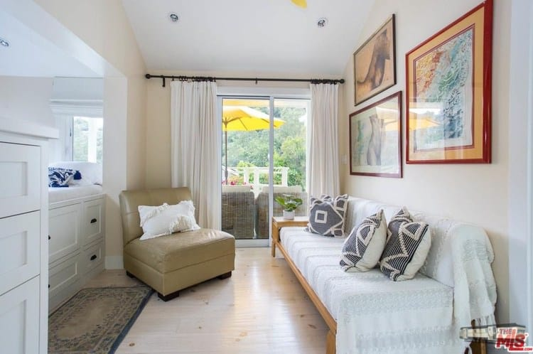 Office guest bedroom remodeled double wide at 6 paradise cove rd, malibu, ca for 1. 4 million copy