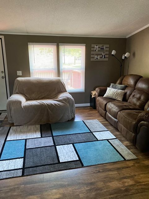 Ohio double wide living room after